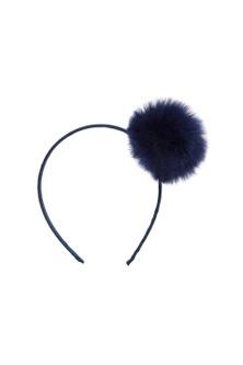 Pumpkin Patch Faux Fur Pom Pom Headband