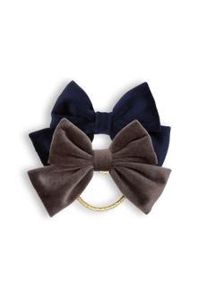 Pumpkin Patch Velvet Bow Lurex Hair Elastic 2-Pack