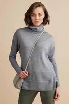 Emerge Merino Rib Cowl Neck Sweater