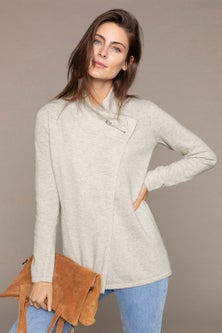 Capture Lambswool Safety Pin Cardigan