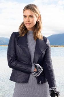 Grace Hill Statement Leather Jacket