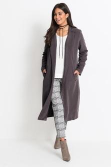 Urban Soft Feel Trench Coat
