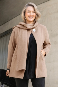 Sara Scarf Tie Coat
