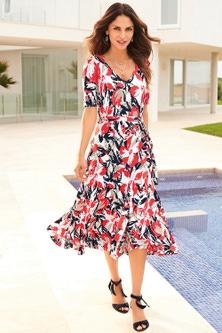 Kaleidoscope Printed Midi Dress