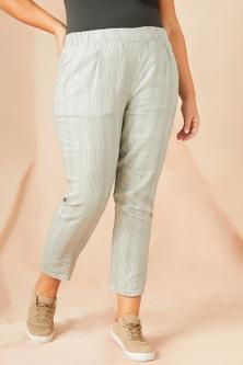 Sara Linen Stripe Pant