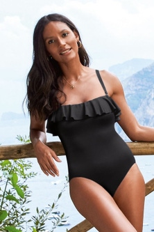 Next Ruffle Shape Enhancing Bandeau Swimsuit-Tall