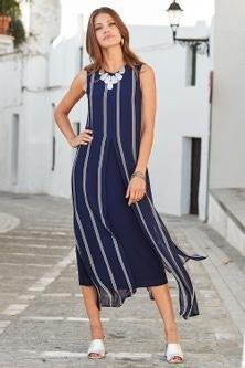 European Collection Split Front Dress