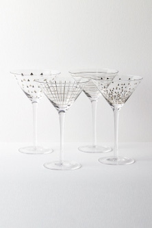 Celebration Martini Glasses Set of Four Assorted