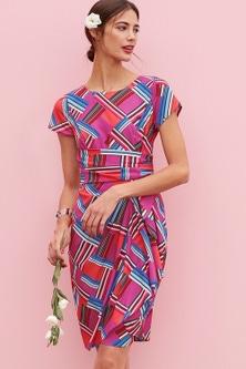 Heine Drape Detail Print Dress