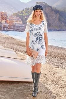 Heine Lace Detail Printed Dress