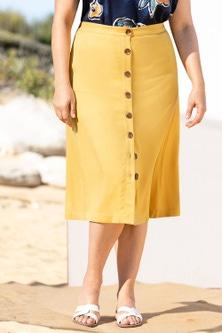 Sara Button Thru Skirt