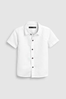 Next Short Sleeved Linen Blend Shirt (3mths-7yrs)