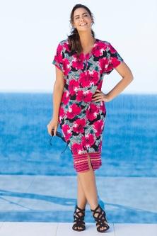 Sara V Neck Textured Knit Dress