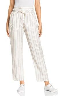 Emerge Linen Blend Pocket Detail Pants