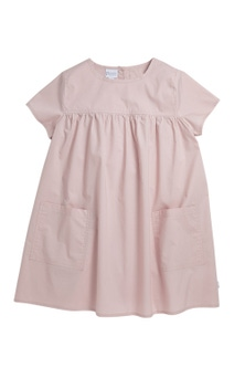 Pumpkin Patch Woven Smock Dress with Pockets