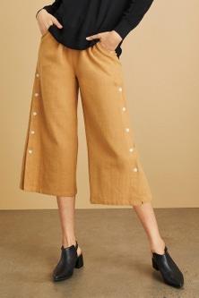 Emerge Linen Button Detail Culotte