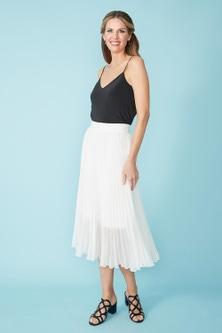 Simply You Pleated Midi Skirt