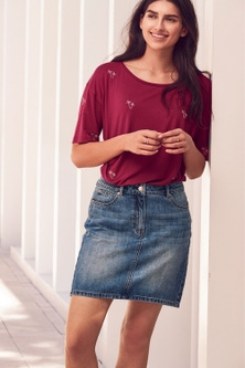 Next Denim Skirt-Petite