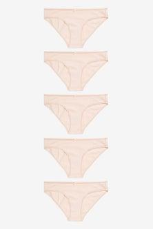 Next Cotton Blend Knickers Five Pack- Bikini