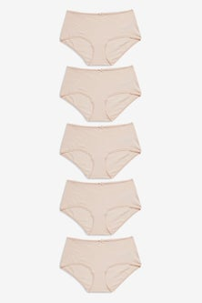 Next Cotton Blend Knickers Five Pack- Midi