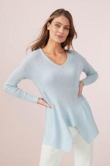 Capture Merino Rib Hem Sweater