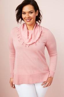 Sara Merino Fringe Cowl Sweater
