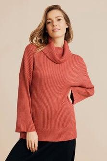 Capture Merino Ribbed Cowl Sweater
