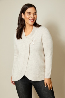 Sara Lambswool Button Cardi