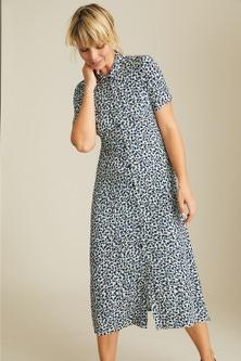 Emerge Knit Midi Shirt Dress
