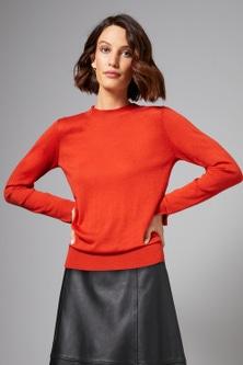 Grace Hill Merino Silk Crew Neck Sweater