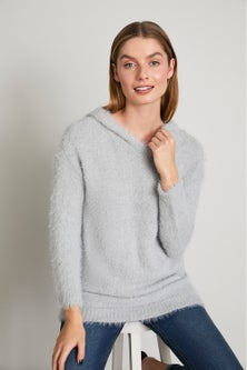 Capture Feather Knit Hoodie