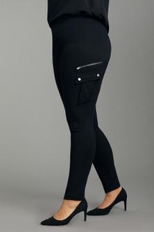 Sara Zip Detail Ponte Pants