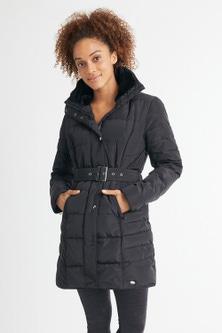 Isobar Longline Belted Puffer Jacket