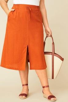 Sara Linen A Line Skirt