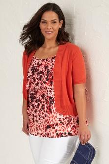 Sara Short Sleeve Cotton Cardigan