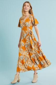 Capture Wrap Tiered Dress