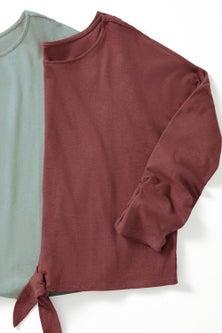 Linen Blend Long Sleeve