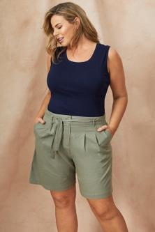 Sara Wide Linen Short