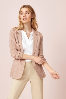 Capture Herringbone Linen Blend Jacket