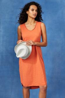 Capture Cotton Slub Sleeveless Shift Dress