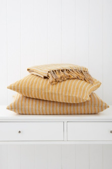 Striped Linen Breakfast Cushion