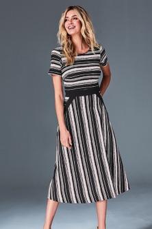 Kaleidoscope Striped Dress