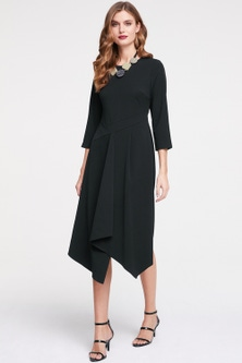 Heine Asymmetric crossover Dress