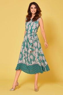 Kaleidoscope Sleeveless Print Dress