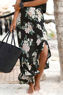 Urban Printed Maxi Skirt