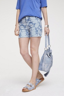 Heine Printed Denim Shorts