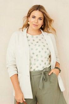Sara Linen Patch Pocket Blazer