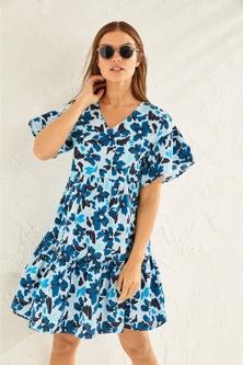 Emerge Organic Cotton Ruffle Dress