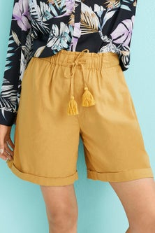 Capture Linen Blend Drawcord Short
