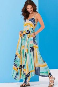 Kaleidoscope Summer Maxi Dress